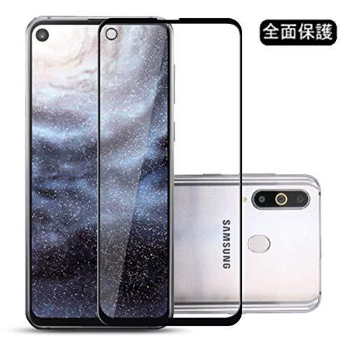 過激派検出器折Galaxy A8s ガラスフィルム Voviqi Samsung Galaxy A8s フィルム 3D全面保護フィルム 液晶強化ガラス 全面フルカバー 99%透過率 硬度9H 超薄型 指紋気泡防止 飛散防止処理保護フィルム(ブラック)