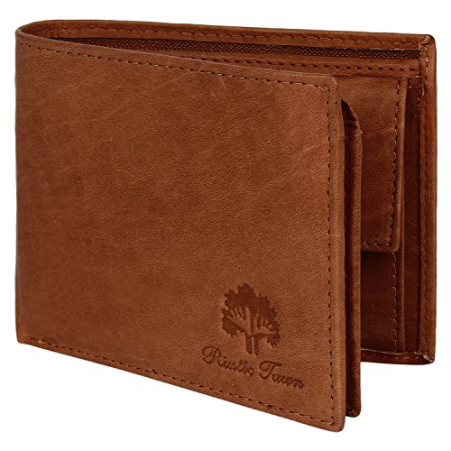 Mens Wallet Leather Bifold - Genuine Leather RFID Blocking Bifold Wallet with Coin Pocket ()