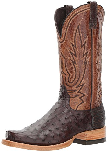 Ariat Mens Relentless All Around Work Boot, Black Full Quill Ostrich, 12 D US Nicotine Full Quill Ostrich