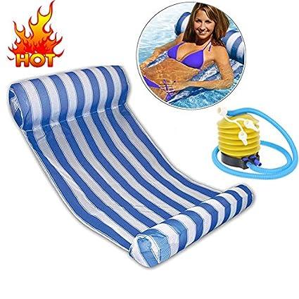 Amazon.com: Swim Float Mat - Inflatable Floating Bed Large Floating ...