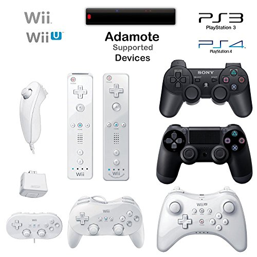 Wireless Wii & Wii U & PS3 & PS4 controllers to any platform
