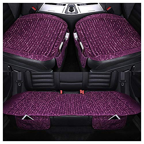 (Automotive Seat Cushions Car seat Cushion Car Seat Cover Three-Piece Good Breathability and Comfort Optional Multi-Style Environmentally Friendly and odorless (Color : Purple))