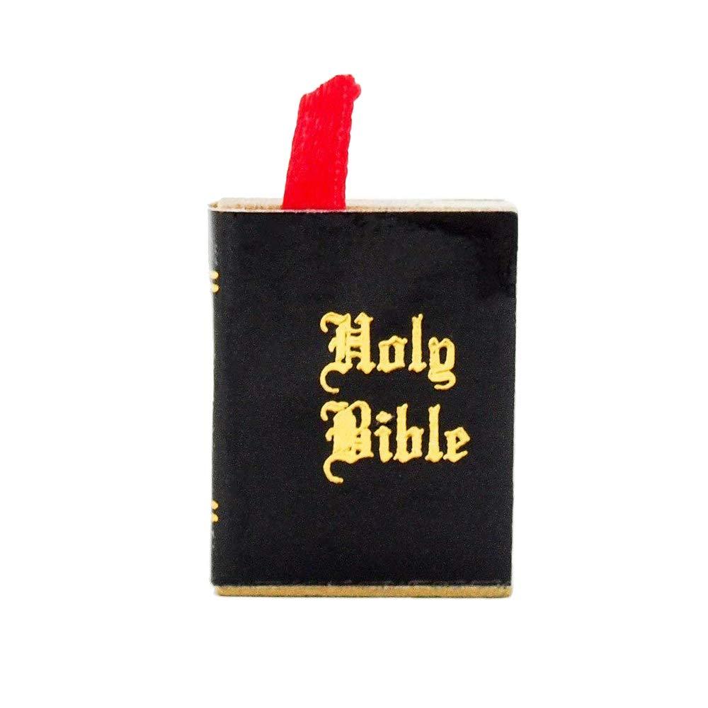 1:12 Dollhouse Miniature Black Book Bible dollhouse accessories VN