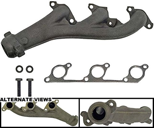 Exhaust Manifold Cast Iron Assembly w/Gasket Fits Front Right Passenger-Side 4.0L SOHC Engine On 1997-2001 Ford Explorer 98-01 Mercury Mountaineer (SOHC Engine Only; 8th Digit Of VIN = E) - APDTY 785487