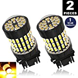 LUYED 2016 Newest! 2 X 900 Lumens 12-24v Amber color Super Bright 3014 78 SMD 3056 3156 3057 3157 LED Bulbs ,Back Up Reverse Lights,Tail Lights