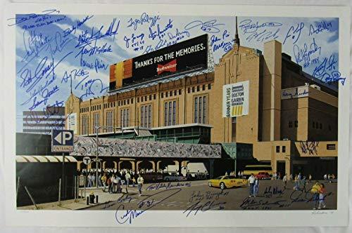 Bruins & Celtics Greats Signed 20x30 Boston Garden Lithograph Print Ray Bourque - Autographed NHL Art ()