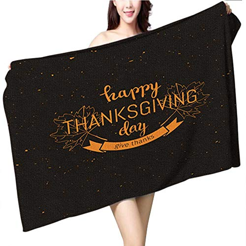 Templates Leaves Autumn - Philiphome Personalized Custom Women Men Beach Bath Towel,Set of Autumn Sale Flyer Template with Lettering Orange Leaves Fall Poster Banner Card lab Pool Towel for Girl Boy Size:39.4 x 19.7 INCH