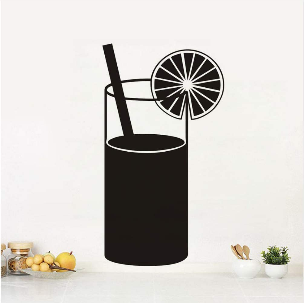 DIY Black Printed Juice Drink Kitchen Wall Stickers Cuisine Decal