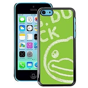 A-type Arte & diseño plástico duro Fundas Cover Cubre Hard Case Cover para iPhone 5C (Green Drawing Blackboard Chalk)