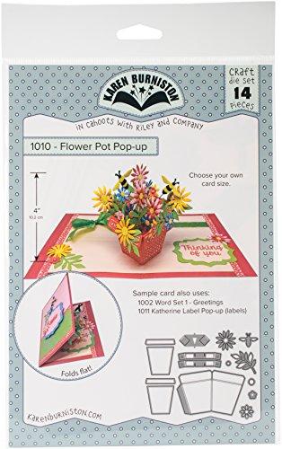 KB Riley 1010 Karen Burniston Dies-Flowerpot Pop-Up ()