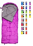 sleeping bag - RevalCamp Sleeping Bag for Cold Weather - 4 Season Envelope Shape Bags by Great for Kids, Teens & Adults. Warm and lightweight - perfect for hiking, backpacking & camping. Color Violet - Right Zip
