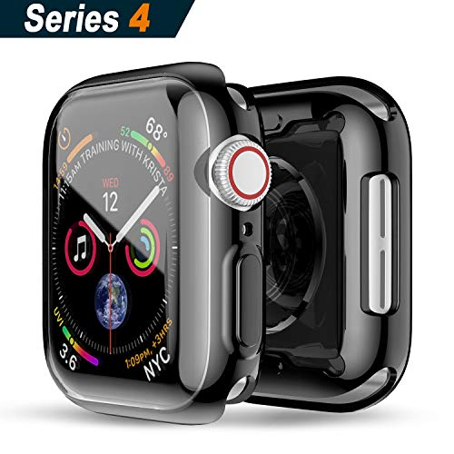 (Richino Apple Watch Series 4 Screen Protector 44mm, 2018 New iWatch with Buit in TPU Overall Protective Case HD Clear Ultra-Thin Cover Apple Series 4 (44mm))