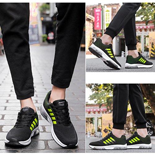 ZanYeing Herren Frühling Sommer Schuhe Ultra Leichte Straßenlaufschuhe Rutschfeste Sportschuhe Gym Laufschuhe Junge Sneakers Atmungsaktiv Air Running Shoes Grün1
