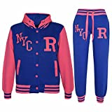 Kids Girls Boys Baseball Tracksuit NYC FOX - T.S Baseball NYC Royal & Neon Pink 11-12