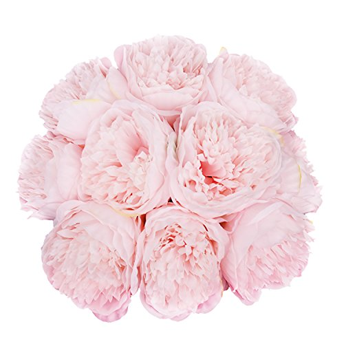 Yinhua 2 Pack Springs Artificial Flowers Artificial Silk Peony Flower bouquets Wedding Home Decoration (Spring 2 Bouquet)