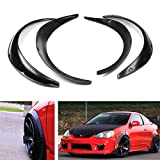 240sx s13 fender flares - iJDMTOY 4pcs Universal Fit JDM Style Fender Flares Wheel Arch Extension Wide Body Kit For Most Car, Black PU