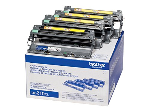 Black Toner Unit - Brother DR-210CL Four Drums - 1 Black, 1 Cyan, 1 Magenta, 1 Yellow - Retail Packaging - DR210CL