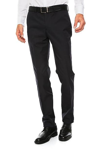 ee577fb9d1c06f Do Rego & Novoa Pantalón de Vestir Corte Extra Slim Fit Pantalones para  Hombre Azul Talla