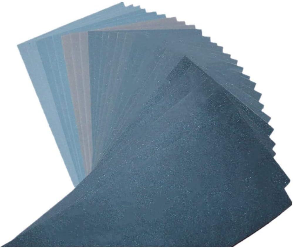 Lot de 27 Papier de Verre 3 x 14 Feuilles//Grains UOMOGO Papier Abrasif 23 x 9.3cm /à Sec /à lEau 400//600//800//1000//1200//1500//2000//2500//3000//4000//5000