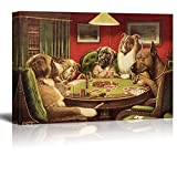 wall26 Canvas Wall Art - Dogs Playing Poker Series - A Bold Bluff by by C.M Coolidge - Giclee Print Gallery Wrap Modern Home Decor Ready to Hang - 32x48 inches