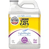 Purina Tidy Cats LightWeight Glade Tough Odor Solutions for Multiple Cats Clean Blossoms Clumping Cat Litter - (2) 8.5 lb. Jugs