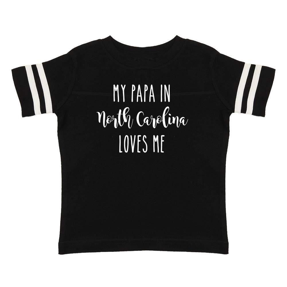 My Papa in North Carolina Loves Me Toddler//Kids Sporty T-Shirt
