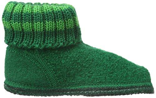 Haflinger Paul, Zapatillas de Casa, Infantil Verde (Smaragd 37)