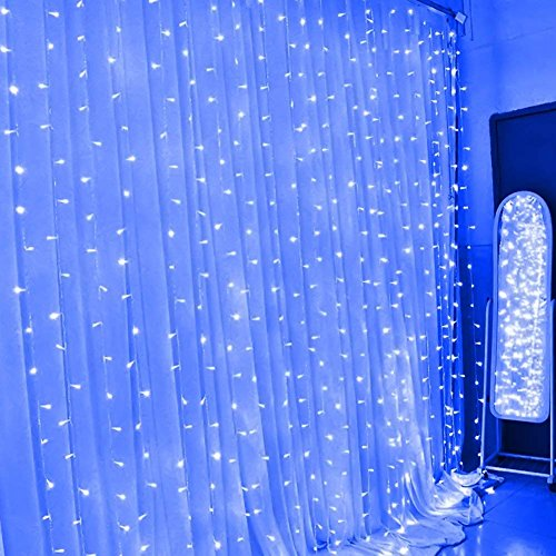 300 Blue Led Icicle Lights in US - 6