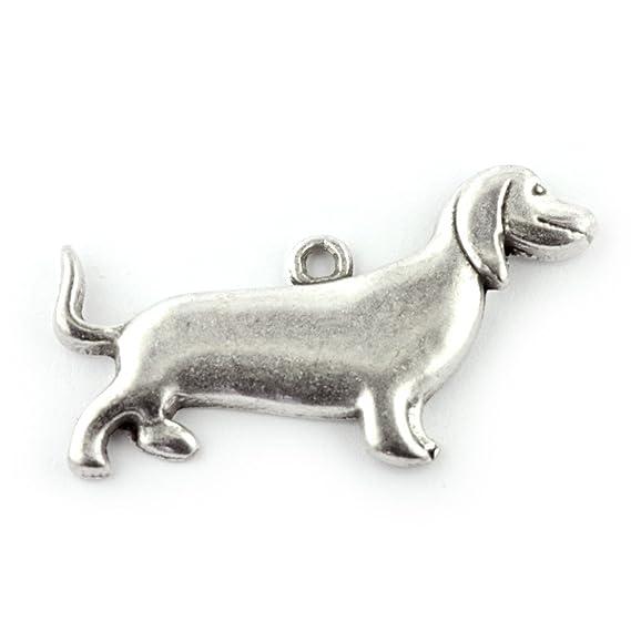 Sausage Dog Charm antik silber 5 Stück: Amazon.de: Küche & Haushalt