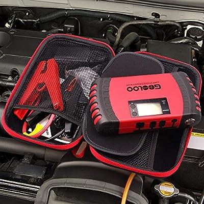 GOOLOO Portable EVA Travel Carring Protective Case for 12V Jump Starter Car Gadgets Tool Storage Box: Automotive