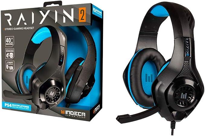 Cascos gamer compatibles con PS4, Xbox, Nintendo Switch, PC y Mac | Headset gaming: auriculares ergonómicos con sonido estéreo y micrófono | Cable de 1,5 metros con entrada universal minijack de 3.5mm: