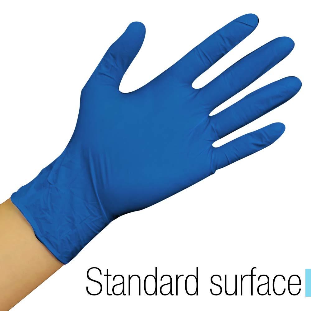 Lot de 100 gants jetables en nitrile non poudr/és Bleu Taille M