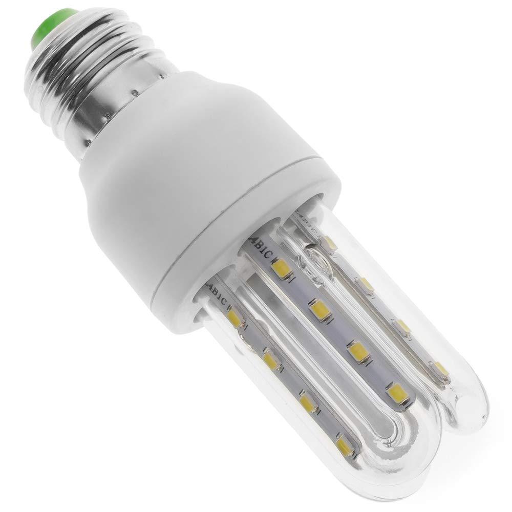 BeMatik - Bombilla de luz LED de 3W E27 luz fría día 6000K alargada: Amazon.es: Electrónica