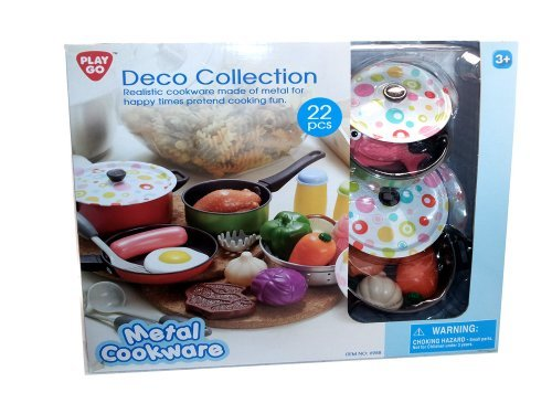 Pla Go Deco Collection Metal Cookware Set 22 Pieces by PlayGo