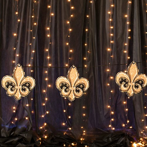 (10 in. Paris France Tres Chic Fleur de Lis Garland Standup Photo Booth Prop Background Backdrop Party Decoration Decor Scene Setter Cardboard Cutout)