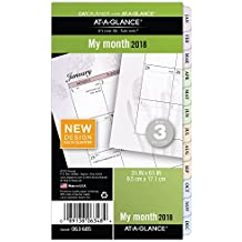 """AT-A-GLANCE Day Runner Monthly Planner Refill, January 2018 - December 2018, 3-3/4"""" x 6-3/4"""", Loose Leaf, Size 3, Nature (063-685)"""