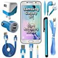441 Wireless 6 Item Accessory Bundle for Samsung Galaxy S7 / S7 Edge (All Carriers) Includes: Car Charger, Home Charger, Data Cable, Headphones, Auxiliary Cord & Stylus Pen