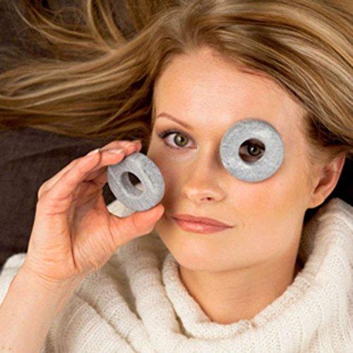 Cooling Eye Orbits, 100% Finnish Soapstone, 2 x Set of 2 by Hukka Design (Image #2)