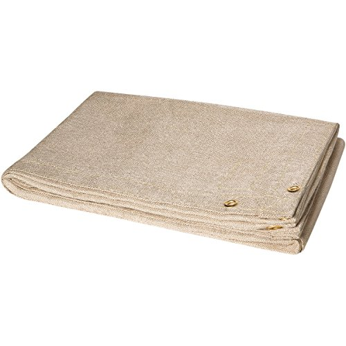 (Steiner 372-6X10 Heat Cleaned Fiberglass Welding Blanket, 18-Ounce, Tan)