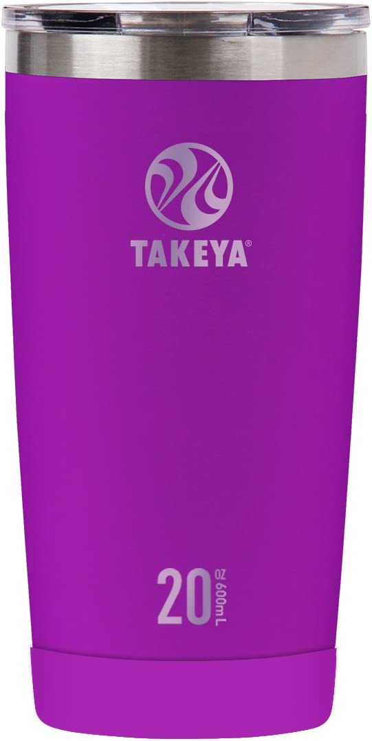 Takeya Actives Insulated Stainless Tumbler with Flip Lid, 20oz, Violet