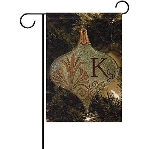 Starocle Retro Initial K Christmas Polyester Garden Flag Hou