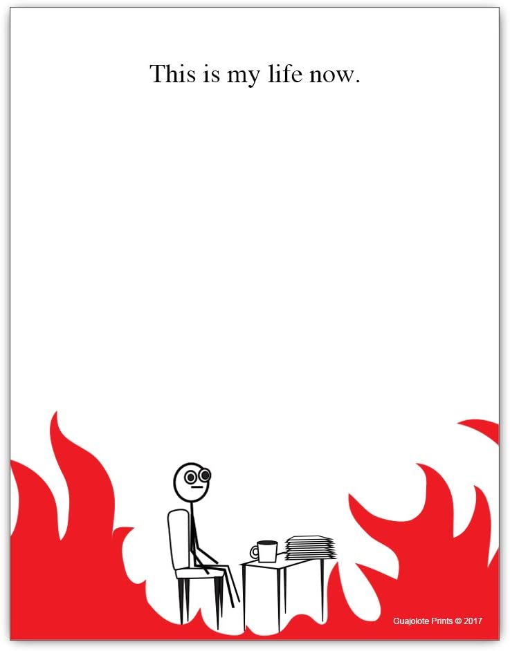 This is My Life Now - Things To Do List Notepad - Funny Office Gag Gift Pad