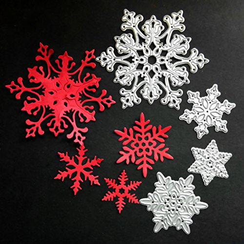 One76 Dies Card Crafting Snowflake Cutting Dies Stencil Metal Mould Template for Christmas DIY Scrapbook Album Paper Card -