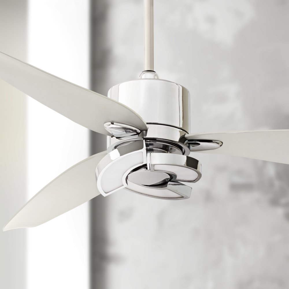 56 vengeance led chrome ceiling fan amazon mozeypictures Gallery