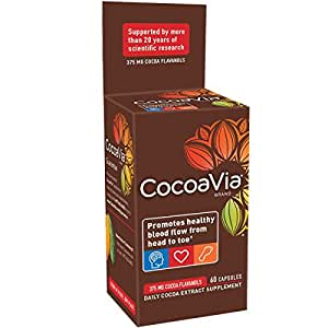 CocoaVia Daily Cocoa Extract Supplement, 60 Count 375mg