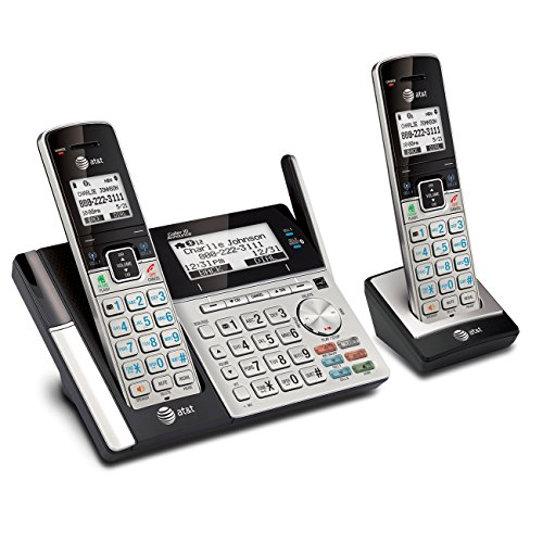 AT&T TL96273 DECT 6.0 Expandable Cordless Phone with Bluetooth Connect to Cell, Answering System and Base Speakerphone, 2 Handsets, (Direct Connect Phone)