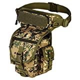 Qualitydreamei Men Waterproof Nylon Leg Bags Waist Pack Men Belt Fanny Pack Digital jungle
