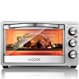 Cheap Toaster Oven 6 Slice Oven Toaster SpeedBaking, for Toast/Bake/Broil Function with 4 Heating Elements Intuitive Easy-Reach Toaster Oven Broiler, Stainless Steel Toaster Oven, Black/Silver