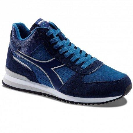Zapato hombre Diadora 1723558001260076Malone Mid Sneaker negro azul cuello alto
