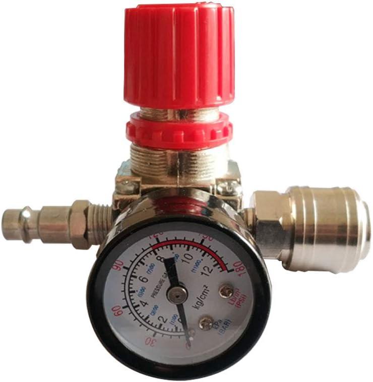 v/álvula de control de presi/ón con conexi/ón de 180 psi 12 bar 1//4Regulador de presi/ón neum/ático del compresor de aire Regulador de presi/ón neum/ático v/álvula de cuatro v/ías